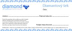 Pedikúra Hana Kvisová - Diamantový šek